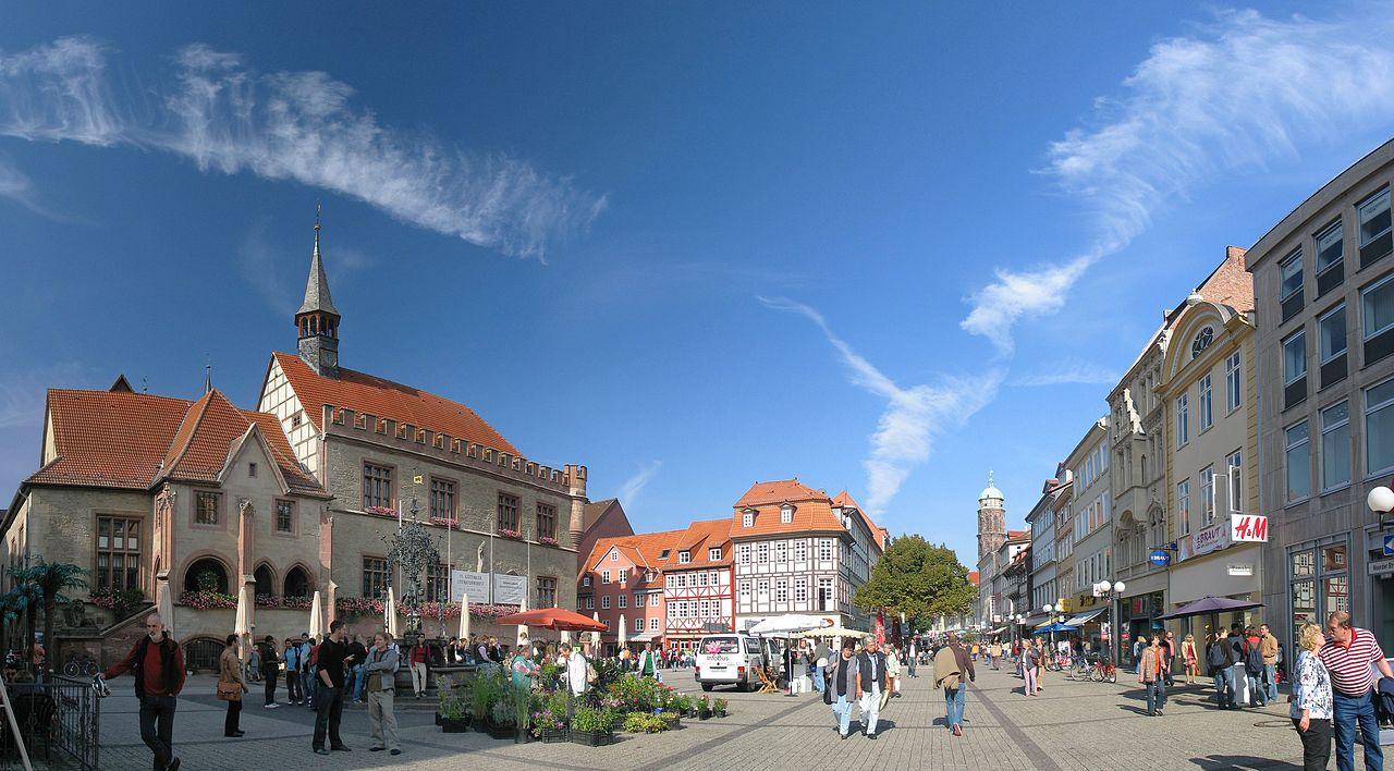 Обои улица, Гёттинген, германия, Germany, здания, Gottingen, street. Города foto 8
